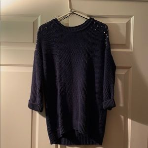 Topshop navy knit sweater